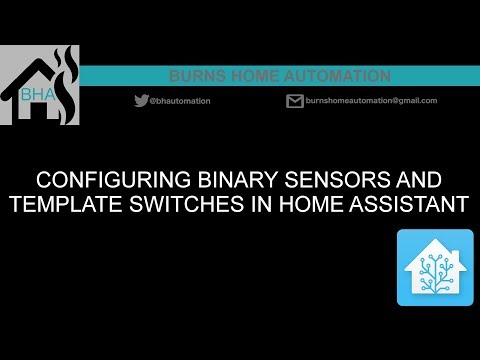 Configuring binary sensors and template switches in Home Assistant