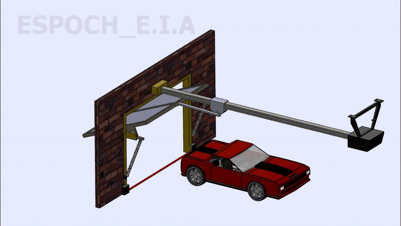 Mecanismo puerta de garaje autom tica con muelle - Puerta de garaje automatica ...