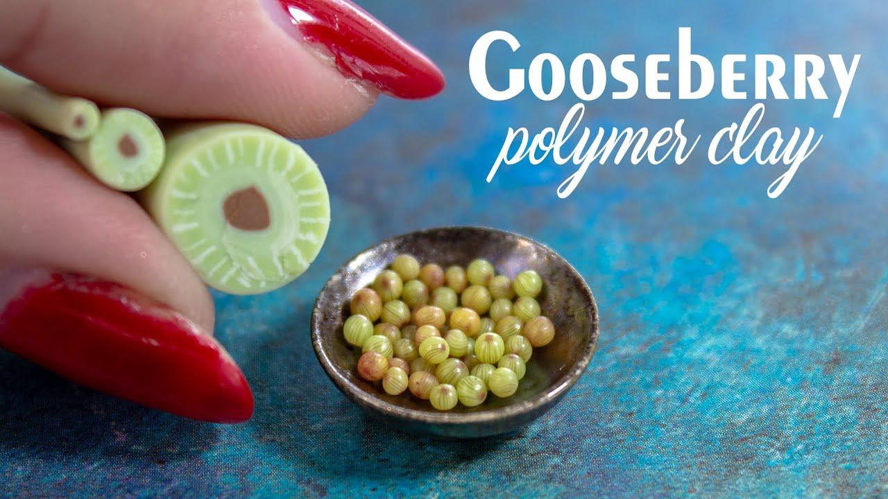 💚Making Polymer Clay Gooseberry Cane Tutorial | Miniature Gooseberry | Dollhouse miniatures