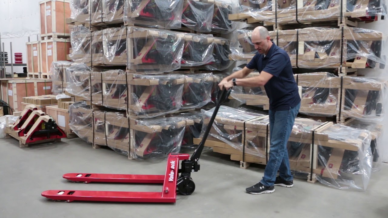 How to bleed the air out of the hydraulic unit on a Pallet jack