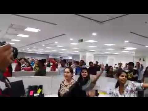 Flash Mob OFFICE  DJ  at Thomson Reuters - Legal Hyderabad
