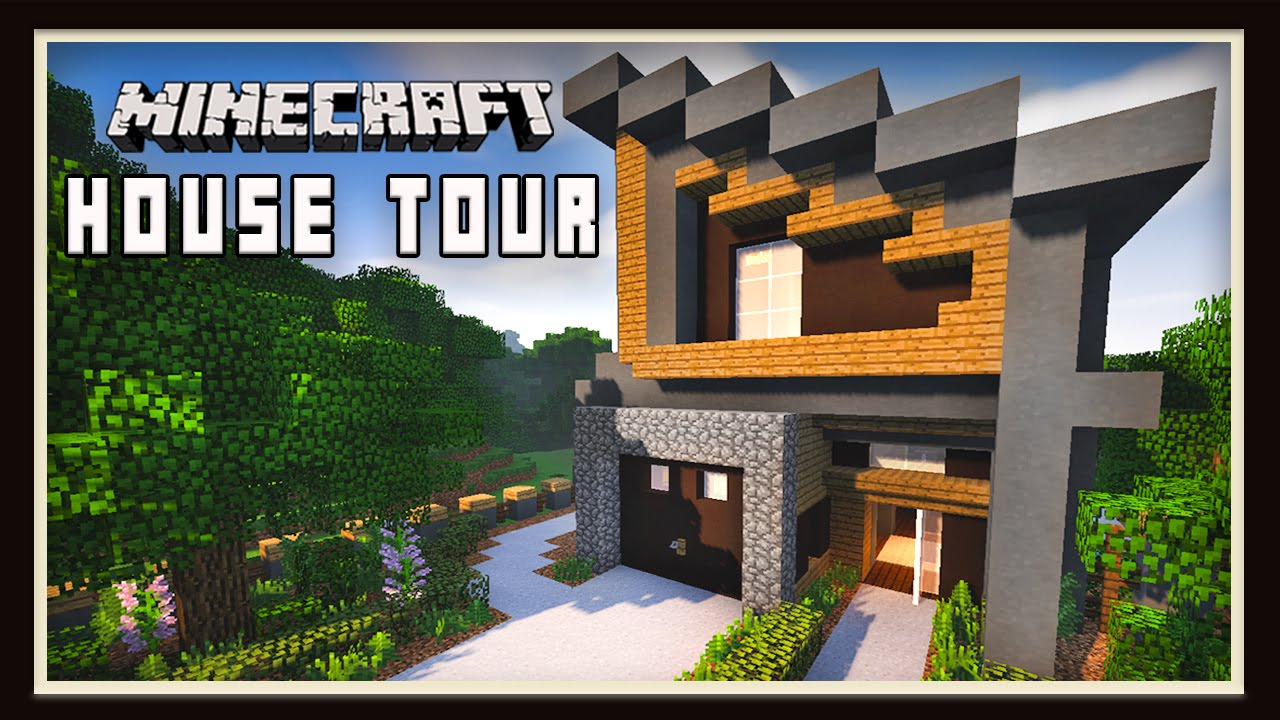 Minecraft: Awesome Modern House Design Tour - YouTube