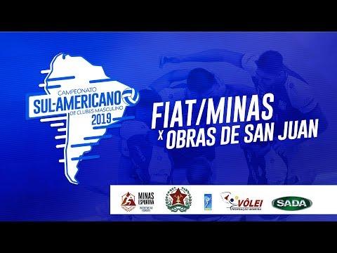 Sul-Americano de Clubes Masculino - FIAT/Minas (BRA) x Obras de San Juan (ARG) - 3° lugar