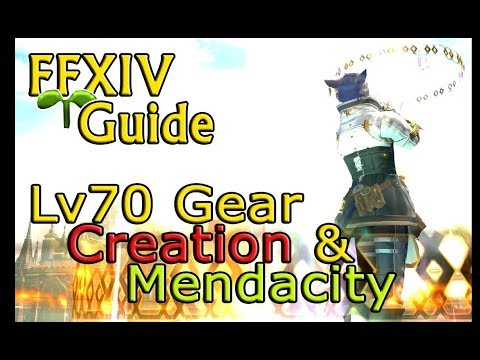 [Outdated] FFXIV Sprout Guide To Lv70 Gear (Creation & Mendacity)