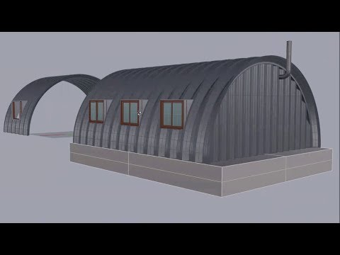 DIY Quonset House: Quonset Hut Side Windows