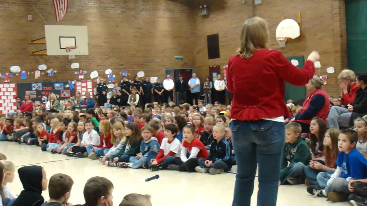 Woodland Primary School, Veterans Day Assembly