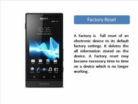 balcan how to reset a sony xperia s the