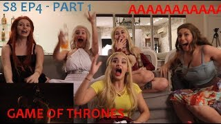 GAME OF THRONES ⚔️ THE LAST OF THE STARKS REACTION - S8 EP4 - Part 1