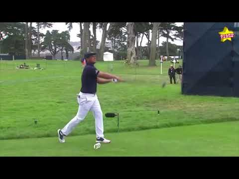 WATCH: Bryson DeChambeau breaks his driver after leaning on it at ...
