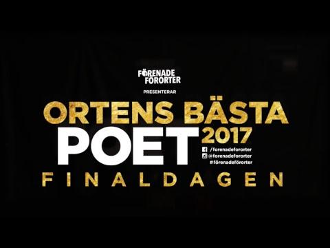 Ortens Bästa Poet 2017 Finaldagen livesänding