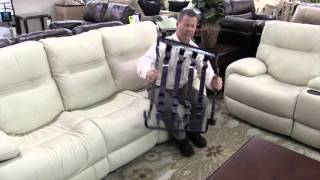 Sanford Flexsteel sofa leather sectional love seat recliner, living room furniture Orlando area
