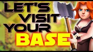 🔴LET'S VISIT YOUR BASE IN COC || LATE NIGHT STREAM ||CLASH OF CLANS STREAM ||LIVE BASE VISIT IN COC