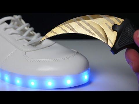 Как стирать кроссовки с подсветкой