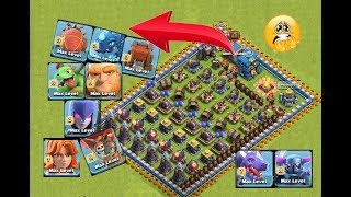 Who can survive this difficult troll trap on coc😯😰||max level troops vs troll trap😊||unity clash|