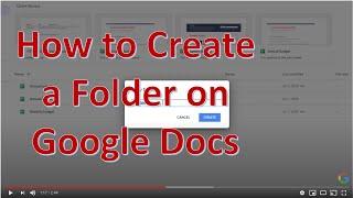 How to Create a Folder on Google Docs