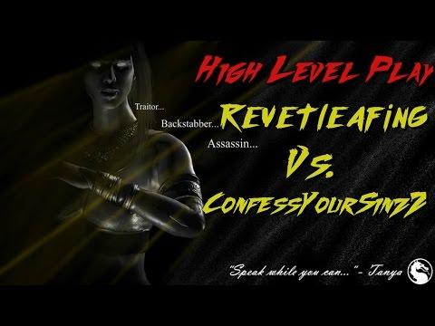 High Level Play ConfessYourSinzZ Vs. RevetLeafing MKX Gameplay