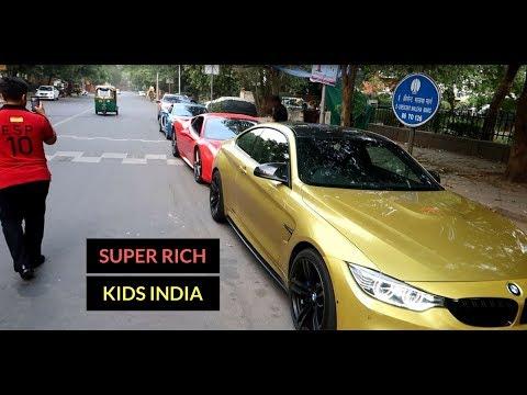 Rich kids of India | Sunday Supercar drive | Delhi