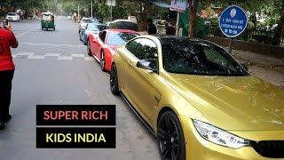 Rich kids of India | Sunday Supercar drive | Delhi