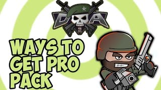 Doodle Army 2 Mini Militia How To Get Pro Pack