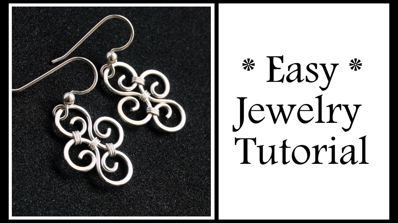 Easy Jewelry Tutorial Simple Swirl Earrings : Wire ...