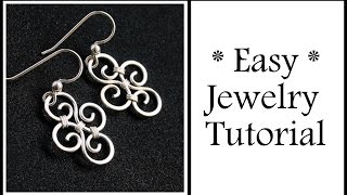 Download Video Easy Jewelry Tutorial Simple Swirl Earrings : Wire Wrapping for Beginners MP3 3GP MP4