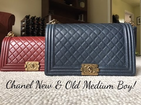 af1b91e246242 Chanel New   Old Medium Boy Bag COMPARISON! - YouTube