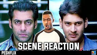 Wanted vs pokiri   train fight scene reaction   salman khan vs mahesh babu   peshflix entertainment
