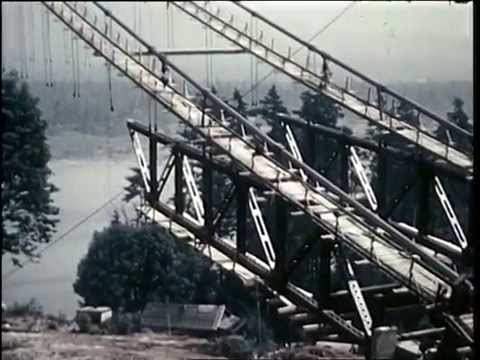 1938 Colour film footage of the construction of the Lion