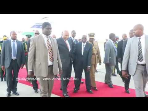 King Letsie III of Lesotho arrival in Zim