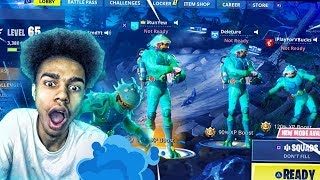 'NOUVEAU'EPIC MOISTY MERMAN SKIN ' 4 MOISTY MERMAN SKINS WIN on FORTNITE BATTLE ROYALE