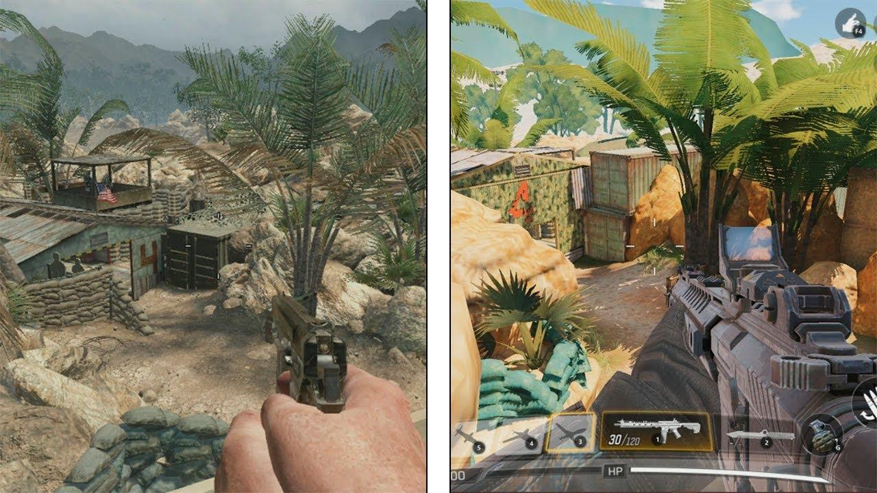 Call Of Duty Mobile Classic Maps Comparison Comparativa De Los
