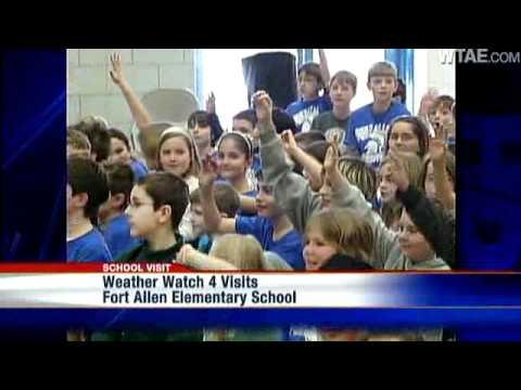 Weather Watch 4 School Visit: Fort Allen Elementary School