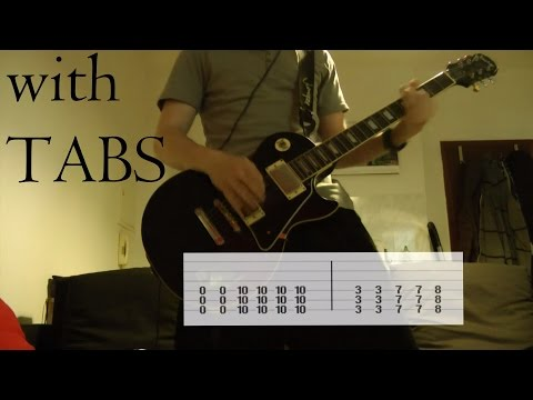 Three Days Grace - Animal I have become Guitar Cover w/Tabs on screen