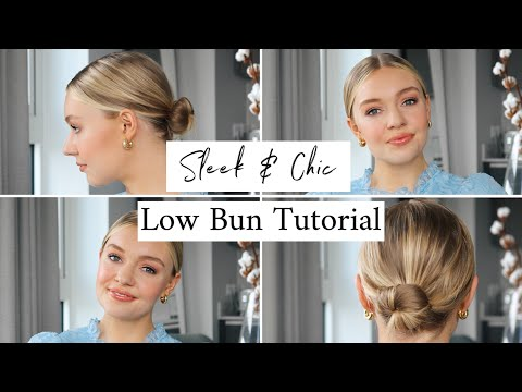 LOW BUN TUTORIAL | SLEEK & EASY HAIRSTYLE - YouTube