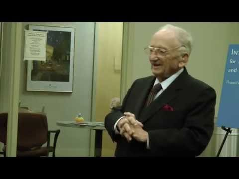A Conversation with Former Nuremberg Prosecutor Prof. Benjamin B. Ferencz at Brandeis University