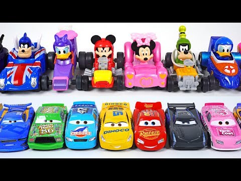 Disney Mickey and the Roadster Racers Turn small! Car Racing and Car Wash play  PinkyPopTOY