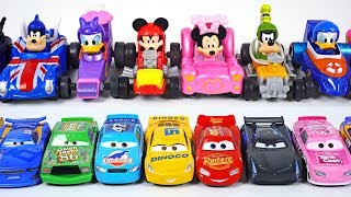Disney Mickey and the Roadster Racers Turn small! Car Racing and Car Wash play - PinkyPopTOY