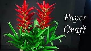 Paper Crafts For School | Paper Craft New | Paper Leaves For Paper Flowers | Paper Flowers Easy