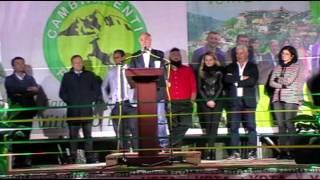 Vittorio Esposito, candidato  a sindaco di Sanza,comizio del 27 maggio 2017