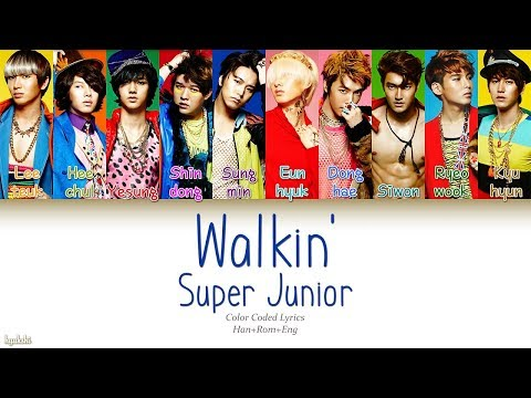 Super Junior (슈퍼주니어) – Walkin' (Color Coded Lyrics) [Han/Rom/Eng]