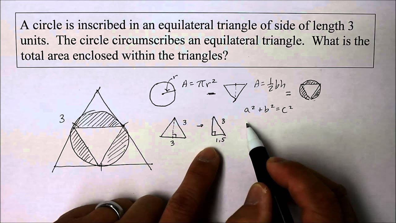 902 ge part 1 find the radius of a circle inscribed inside a 902 ge part 1 find the radius of a circle inscribed inside a triangle youtube ccuart Images