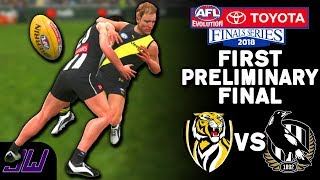 RICHMOND vs COLLINGWOOD - First Preliminary Final Prediction | AFL Evolution (2018 Finals)