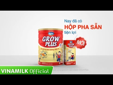 Quảng cáo sữa Vinamilk – Sữa bột Dielac Grow Plus đặc chế cho trẻ suy dinh dưỡng, thấp còi