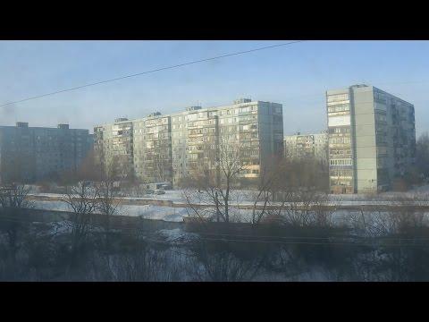 . Пенза. Поездка в поезде по дороге на Москву