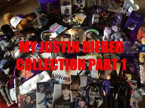 My Justin Bieber Merchandise Collection PART 1 ! ♥