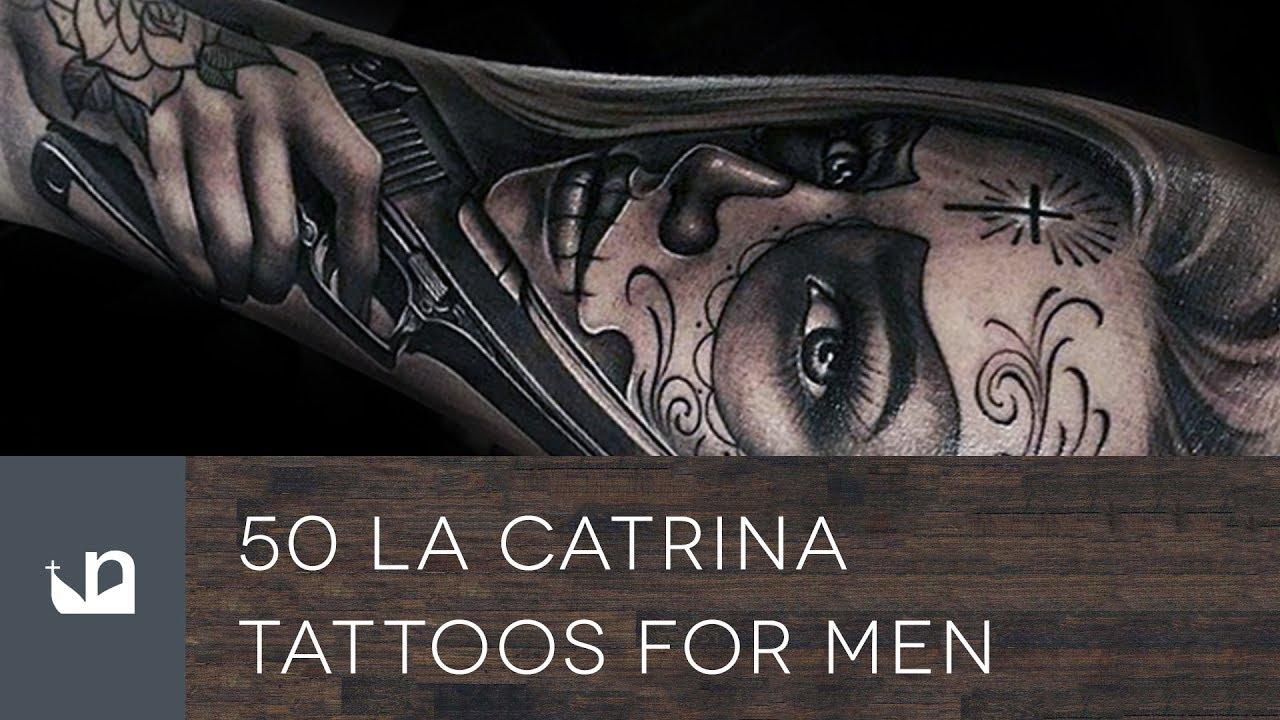 50 la catrina tattoos for men youtube. Black Bedroom Furniture Sets. Home Design Ideas