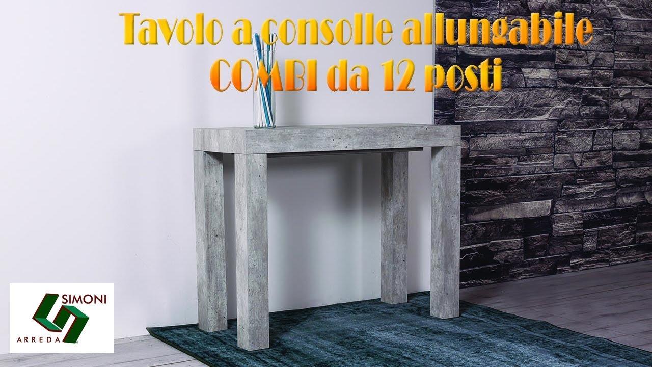 Guide Telescopiche Per Tavoli Allungabili.Tavolo Consolle Combi Con Guide Telescopiche In Alluminio Youtube