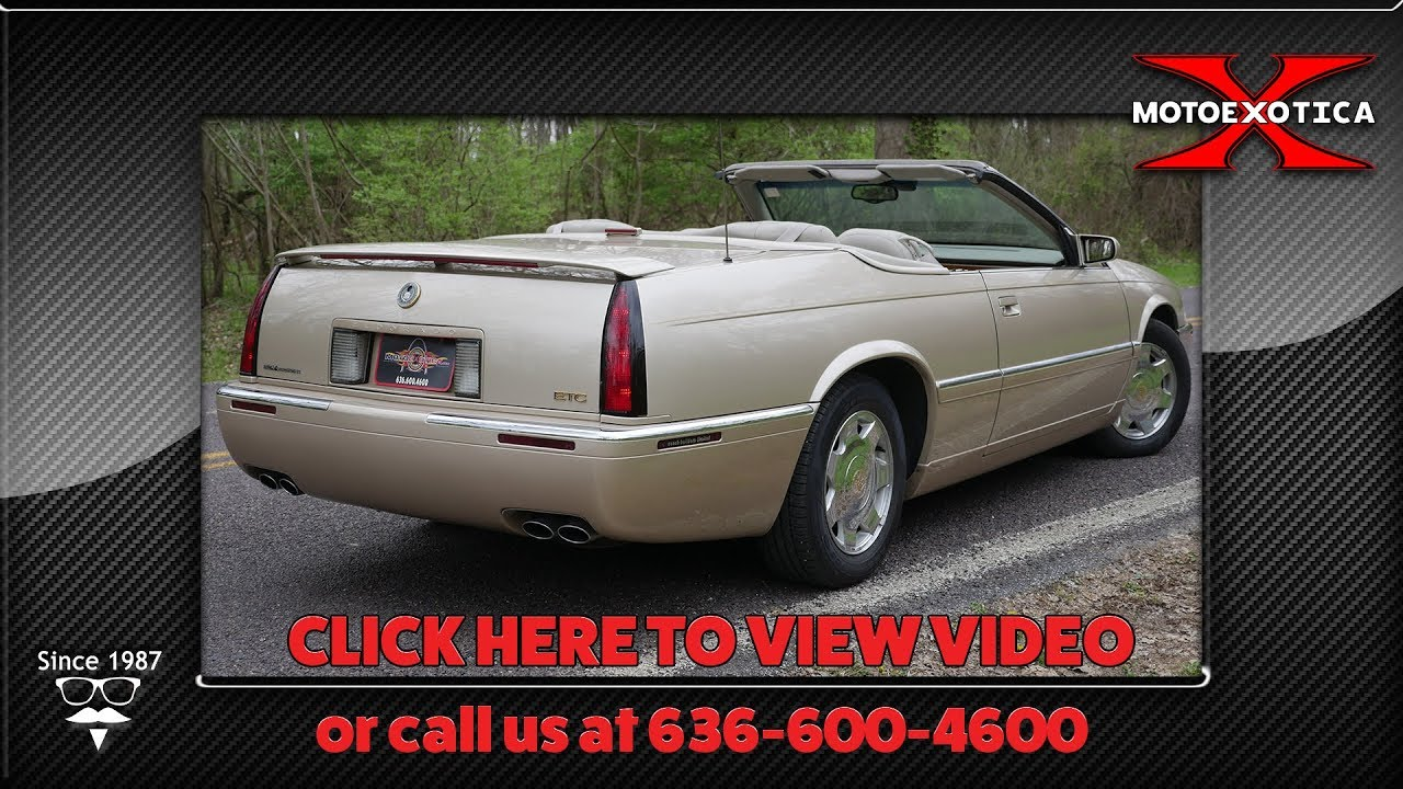 1998 cadillac eldorado convertible sold youtube 1998 cadillac eldorado convertible sold
