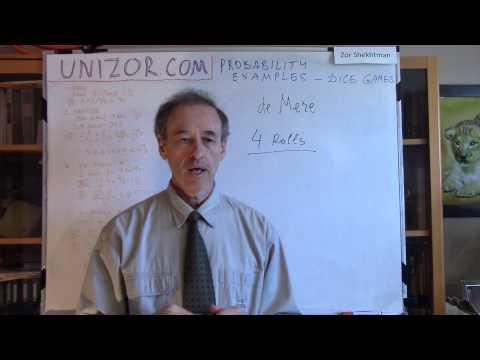 Unizor - Probability Examples - Dice Games