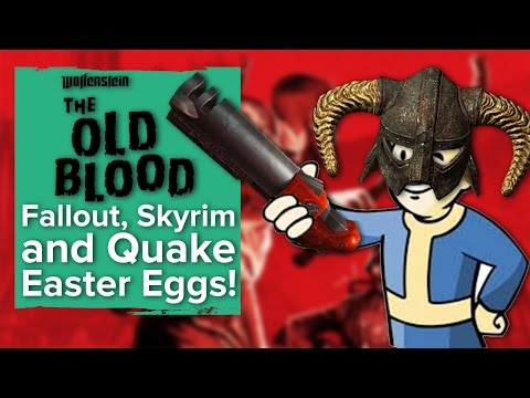 Wolfenstein: The Old Blood - Fallout, Skyrim and Quake 3 Easter Eggs!